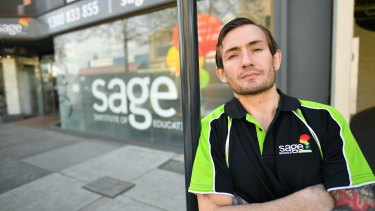 Sage student James Dixon raised concerns about the facilities on offer.