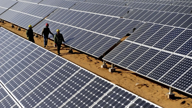 Investment in renewable energy is running behind target.