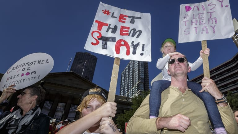 Thousands turned up for the Let Them Stay rally in Melbourne last year.