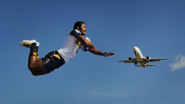 Brumbies high flying wing Henry Speight.