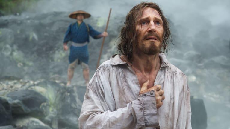 Liam Neeson as the apostate Ferreira in <i>Silence</i>.