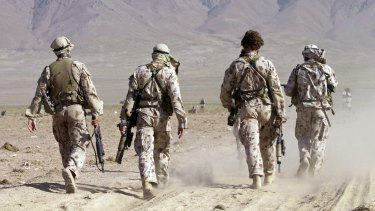 Australian special forces soldiers take part in a training exercise in Afghanistan in 2002