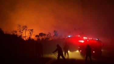 Drones could hinder firefighting activities.