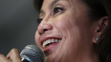 """Philippine vice presidential candidate Maria Leonor """"Leni"""" Robredo could become vice president of the Philippines."""