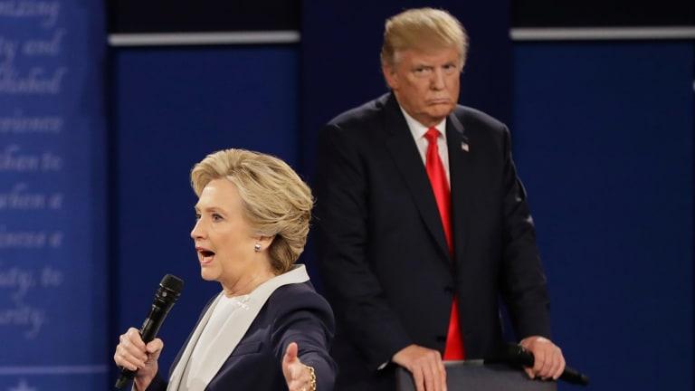 Clinton said Trump's behaviour during the debate made her skin crawl.