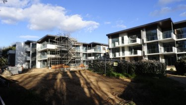 The redevelopment of the former Brumbies' site in Griffith in late 2015.