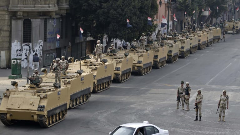 The Egyptian army has fought a battle with Islamic State militants in Sinai killing 55 Islamists, the military claim. File photo.