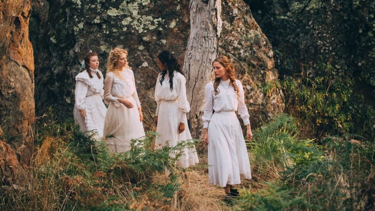 Four go a-wandering: Ruby Rees, Samara Weaving, Madeleine Madden and Lily Sullivan.