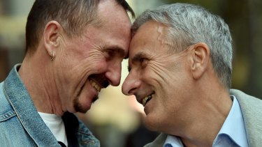Karl Kreile, left, and Bodo Mende are getting hitched! The two civil servants are expected to become the first gay couple to tie the knot in Germany when a law allowing same-sex marriages comes into effect on Sunday.