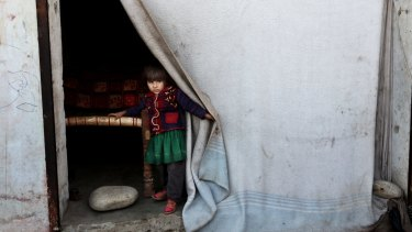 An internally displaced child from the districts around Jalalabad in the region east of Kabul in Afghanistan.