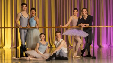 The 2016 Telstra Ballet Dancer Award nominees: Brodie James, Jade Wood, Jill Ogai, Nicola Curry, Callum Linnane and Jarryd Madden (left to right). For the first time in the award's history, nominees are split evenly among genders.