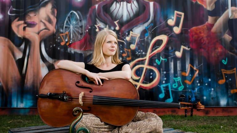 Monique Bartkowiak won the Folk Alliance Australia Young Performer of the Year award at Canberra's National Folk Festival.