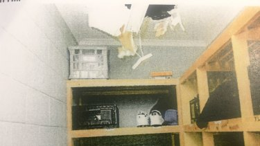 Teens climbed into the roof cavity and onto the roof in the March 7 riot.