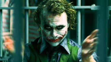 Heath Ledger as the Joker in Batman film The Dark Knight.