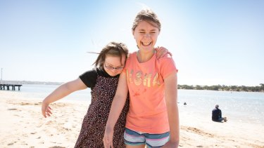 Ally Deller (left), 18, and Brooke Mitchell, 15, enjoy their new friendship.