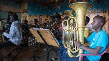 The orchestra practises at St Johns Church in Korogocho, a slum neighbourhood in Nairobi.