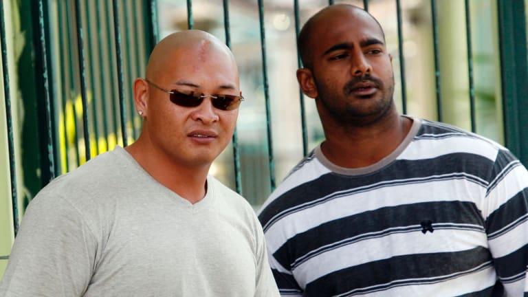 Andrew Chan, left, with Myuran Sukumaran  inside Kerobokan prison in 2011.
