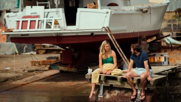 Bonding over a shared desire to travel the world by by yacht: Shailene Woodley and Sam Clafin in Adrift.