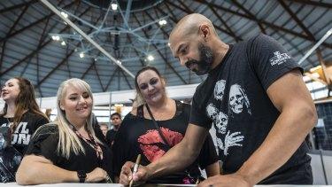 Payton and fans at the Sydney Walker Stalker event.