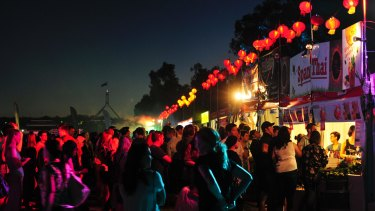 The Canberra Night Noodle Markets attracted a bumper crowd of about 24,000 people on the opening night.
