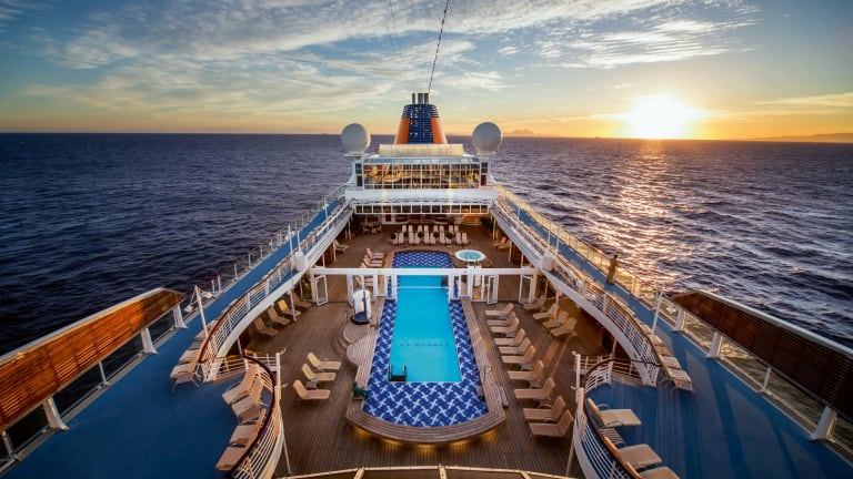 Crowds and queues don't exist on luxury ships.