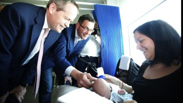Labor leaders Bill Shorten and Daniel Andrews get in some feel-good politicking at Sunshine Hospital. On the flipside, there is a chronic lack of rehab beds in Victoria for drug addicts.
