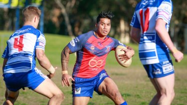 Back to basics: Junior Vaivai takes on Thirroul during his stint with Wests in the Illawarra league.