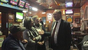 Barnaby Joyce at the Top Pub in Uralla.