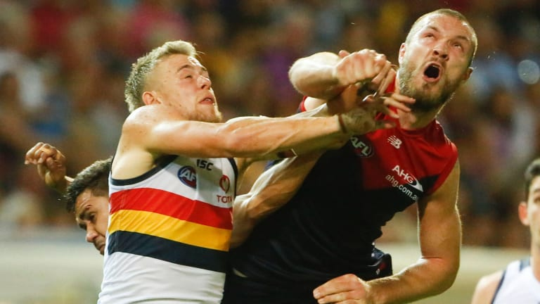 Melbourne's Max Gawn is still finding his feet after a long injury layoff.