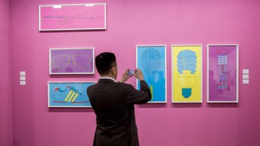 Works by Michael Craig-Martin at Alan Cristea Gallery.