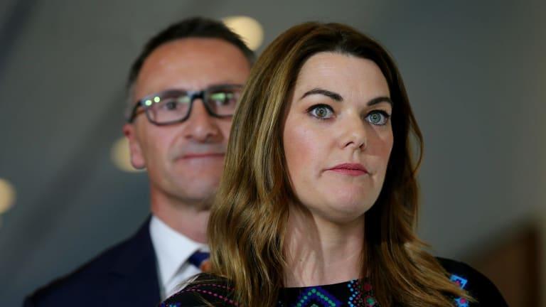 Greens senators Sarah Hanson-Young and Richard Di Natale.