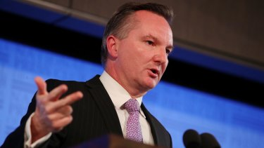 Shadow Treasurer Chris Bowen addressed the National Press Club in Canberra on Wednesday