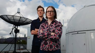 Sydney University's Associate Professor Tara Murphy and PhD candidate Dougal Dobie joined the scientific rush to observe the binary neutron star merger.