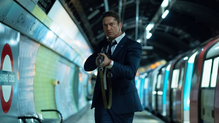 Gerard Butler as Secret Service agent Mike Banning in <i>London Has Fallen</i>.