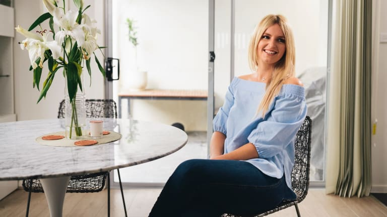 Ali King who is featuring in the 'Zumbo's Just Dessert' finale, at home in Weston.