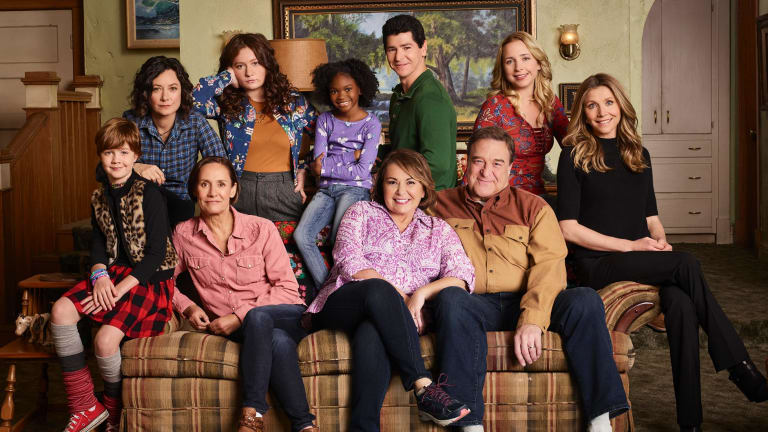 The cast from the Roseanne reboot.