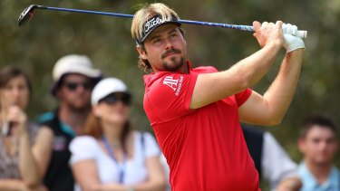 Victor Dubuisson showcased a fine long game on day two of the Perth International but couldn't buy a putt.