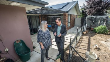 Minister of climate change and sustainability Shane Rattenbury announced a new solar rebate program to reduce energy bills.