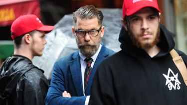 Gavin McInnes (centre), was once a Rebel Media contributor.