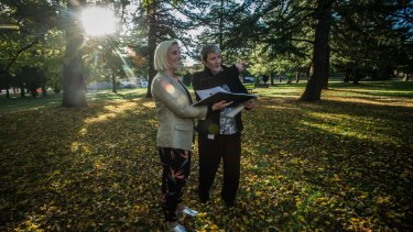 City activation manager Caitlin Bladin and acting director of the Office of the Coordinator General for Urban Renewal Karen Wilden are using Canberrans' ideas to revitalise Haig Park.