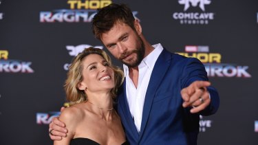Hemsorth and his wife, Elsa Pataky, who live near Byron Bay, welcomed the latest Thor movie being shot in Australia.