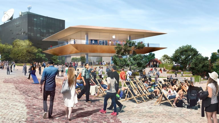 The proposed Apple store at Federation Square.