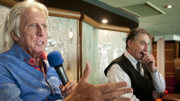 Jeff Thomson (Left) and Len Pascoe at the Queensland Cricketers Club.