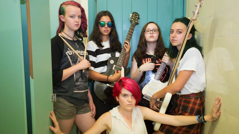 Get ready to rock at the Girls Rock! school holiday program.