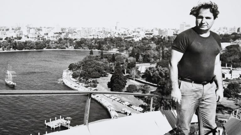 Steve Tsoukalas working on the Opera House in the 1960s.