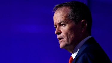 Bill Shorten says he will introduce a 30 per cent tax rate on discretionary trust distributions to people over the age of 18 if he wins power.