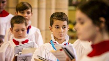 Choir members at St John's Anglican Cathedral.