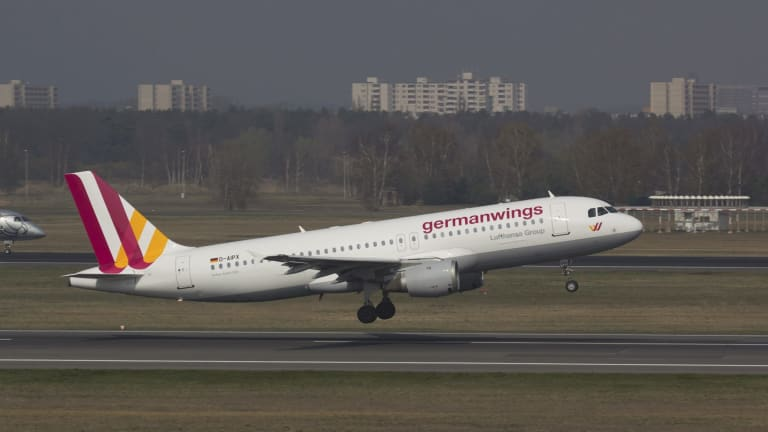 A Germanwings Airbus A320 similar to the one that crashed in the French Alps.
