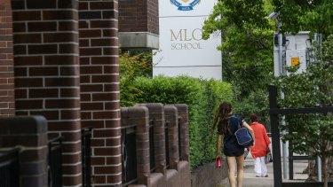 Going through a tumultuous period:  MLC school at Burwood.