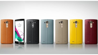 LG's G4 features a groundbreaking screen and removable, interchangeable backs, some made of real leather.